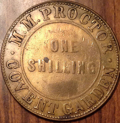 British Covent Garden Token Proctor One Shilling