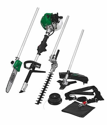 4 in 1 Petrol Gardening Kit Whipper Snipper Blade Cutter Hedge Trimmer Chainsaw