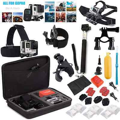 32 in 1 Accessories Set Kit Head Chest Mount for Gopro Hero 2 3 4 Black Silver