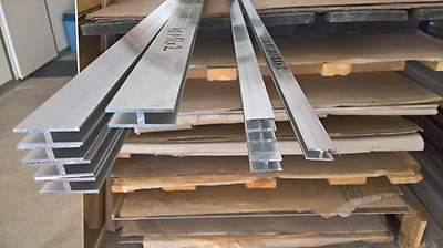 Aluminium H Profile Shape Section Various Size Lenght 500 mm - 2000 mm