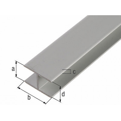 Aluminium H Profile Shape Section Various Size Free Cut Service