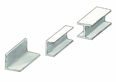 Aluminium Double T /  H Profile  Section Various Size Free Cut Service