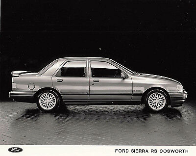 Ford Sierra Rs Cosworth Side View Period Photograph.