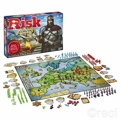 Risk Europe Edition Board Game -  The Enchanted Game Of Medieval Conquest