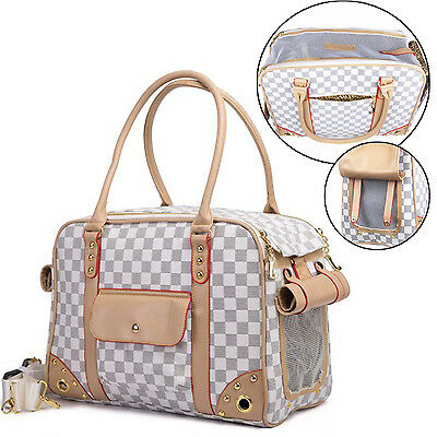 PU Leather Pet Dog / Cat Comfort Carrier Travel Soft Carrying Shoulder Hang Bag