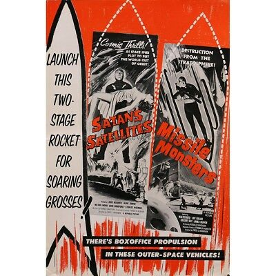 SATAN'S SATELLITES/MISSILE MONSTERS Pressbook 12x18 in.  - 14p 1958 - Fred C. Br