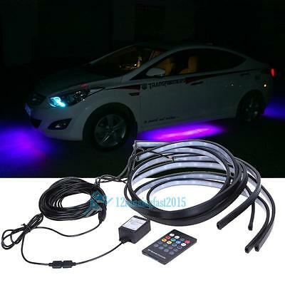 Colorful LED Strip Under Car Tube Underglow Underbody Glow System Neon Lights UK