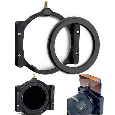 Zomei 100mm Square Filter Holder+67/72/77/82/86mm Adapter for Lee Hitech Cokin Z
