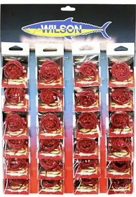 Wilson Red Whiting Lure Red Plastic Tube & Beads Flathead Bream - 1 Pack
