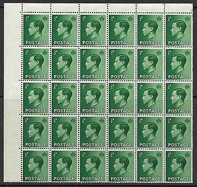 Sg 457 - 460 Edward VIII Set of 4 stamps in blocks of 30 UNMOUNTED MINT/MNH