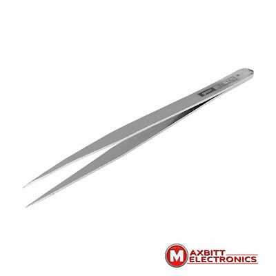 TS11 Flat Tweezer- Precision Tool, Stainless Steel, Handywork Small Parts