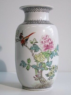 20Th Fine Chinese Porcelain Vase Vintage Vaso Orientale Dipinto A Mano