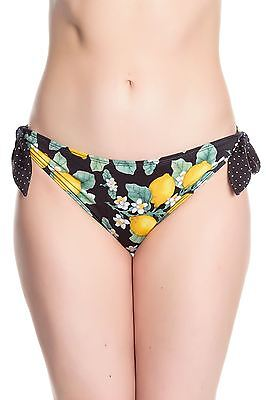 Hell Bunny Lemonade Bikini Bottoms Vintage Pin Up Swimwear REDUCED TO CLEAR