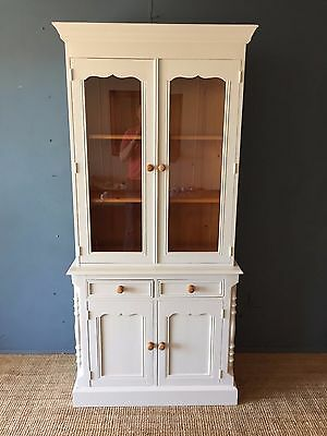 F&B Painted Pine French Dresser Freestanding Kitchen Unit Antique Country Style