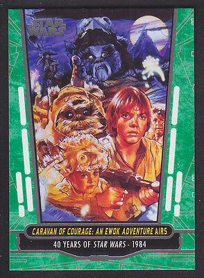 Topps Star Wars - 40th Anniversary - Green Parallel Card # 68