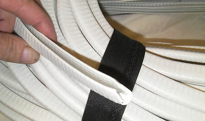 CAR EDGE TRIM, large glossy WHITE, suit 3mm to 6mm thick edges such as on boats.