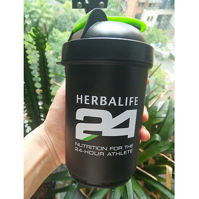 500ml Outdoor Sports Blender Herbalife 24 Sectional Shake Cup Water Bottle 18OZ