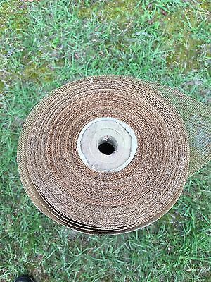 Vintage Copper Full Roll of Mesh Screen 30 Inches X 100 FEET.  Free Ship!!
