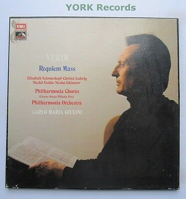 SLS 909 - VERDI - Requiem Mass GIULINI / SCHWARZKOPF - Ex 2 LP Record Box Set