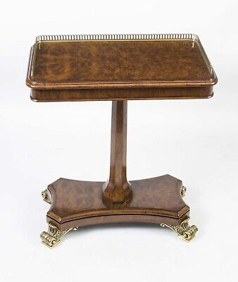 Bespoke Regency Style Burr Walnut Occasional Side End Table