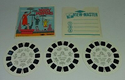 Vintage Viewmaster #b376 Disney Mary Poppins 3 Disc Set 1964 Rare