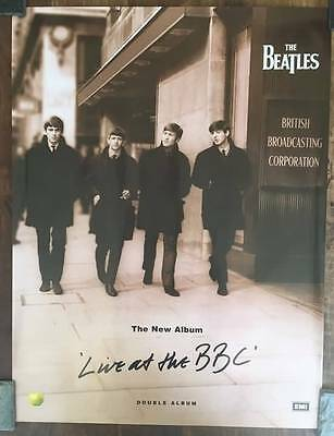 THE BEATLES LIVE AT THE BBC 24x31.5 OFFICIAL Promo Poster XLNT NOT REPRINT