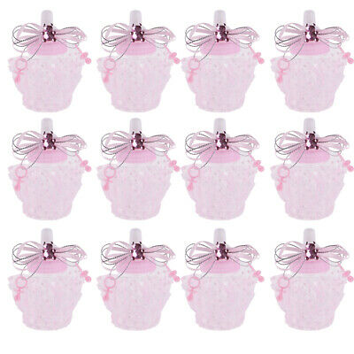 12x Fillable Girl Boy Baby Shower Candy Bottles Sweet Boxes Party Favor