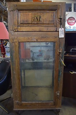 Antique Shannen Glass Walled Ice Box