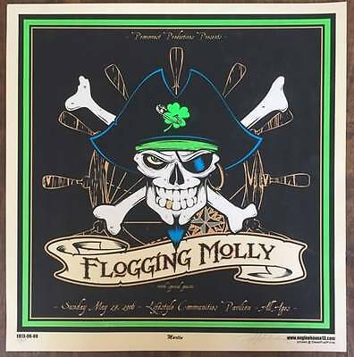 FLOGGING MOLLY 2006 Jolly Roger Poster Print #ed Signed by Artist 16x16