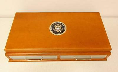 US Presidential Dollar Vault Treasury Maple Display Case Coin Collection Storage