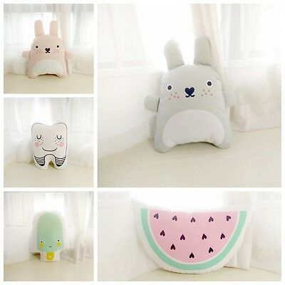 Cute Baby Kids Cushion Cotton Baby Room Catoon Pillow Decor Child Bed Doll