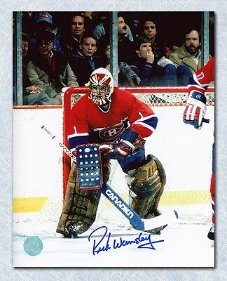 Rick Wamsley Montreal Canadiens Autographed Goalie 8x10 Photo