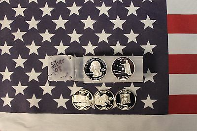 2008 S Silver State Quarter Proof Roll - 40 quarters - 5 different 8 each - 25c