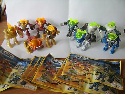Kinder egg toys complete set of 10 Extra Robots + all papers Dark Bots vs Light