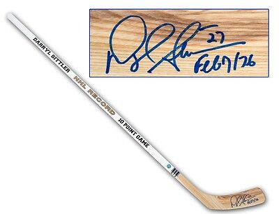 Darryl Sittler Toronto Maple Leafs Signed & Dated 10 Point Game Hockey Stick