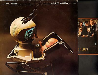 THE TUBES remote control (original uk with postcard) LP EX/VG AMLH 64751 glam