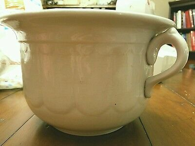 Antique White Chamber Pot Goodwin Brothers, Ohio