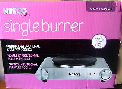 Nesco Electric Ceramic Burner 1500 Watt Hot Plate Stainless Steel Thermal Fuse