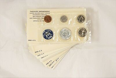 1965 SMS Mint Sets - 10pc. Lot - In Government Packaging  !!