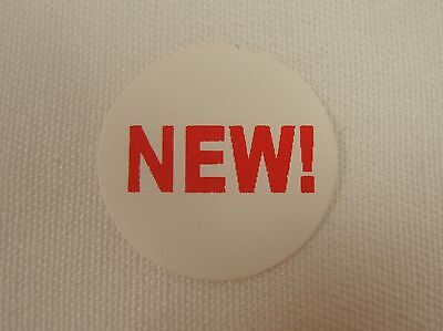 "100 Self-Adhesive NEW! 3/4"" Labels Stickers Retail Store Supplies"