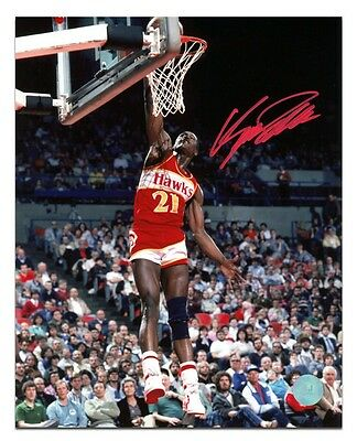 Dominique Wilkins Atlanta Hawks Autographed Basketball 8x10 Photo