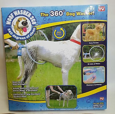 Pet Dog 360 Degree Washing Washer Kit Easy Clean Tool Garden Hose Needed