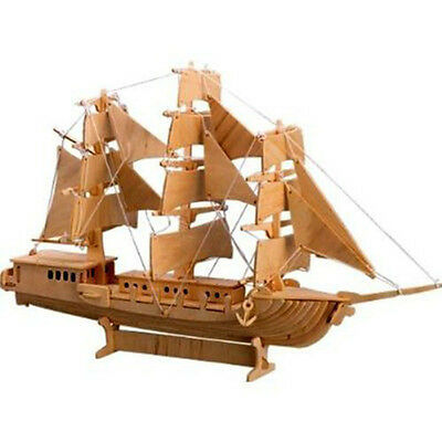 3D European Sail Boat Model Wooden Puzzle Educational Jigsaw Toy for Children WB