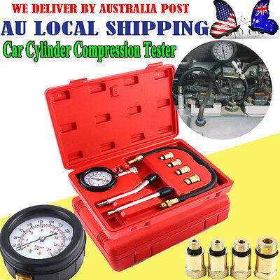 Cylinder Leakage Detector Engine Compression Leak-Down Tester Gauges Tester -GH