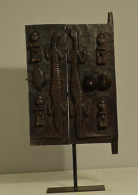 African Door Carved Wood Dogon Mali Granary Door Storage Animals Faces Door