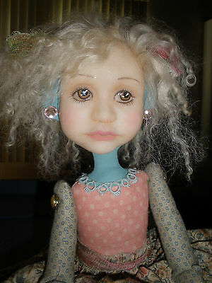 Folk Art Doll 2012 by Dianne Adam Large Doll Big Shoes OOAK Arist One of a Kind
