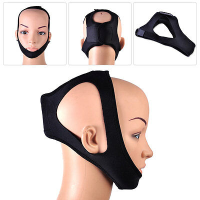 Anti Snore Stop Snoring Solutions Chin Strap Jaw Belt Sleep Support Reliever Aid