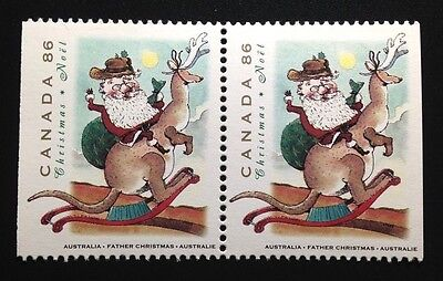 Canada #1501as MNH, Christmas Personages Pair of Stamps 1993
