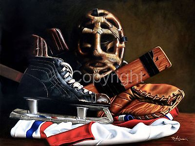 Signed Limited Edition Vintage Hockey Art Print by Carole Rodrigue