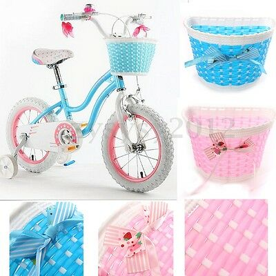 Bike Flowery Front Basket Bicycle Cycle Shopping Stabilizers Children Girls UK
